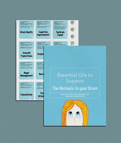 Essential Oils to Support The Animals in your Brain Booklet and Labels