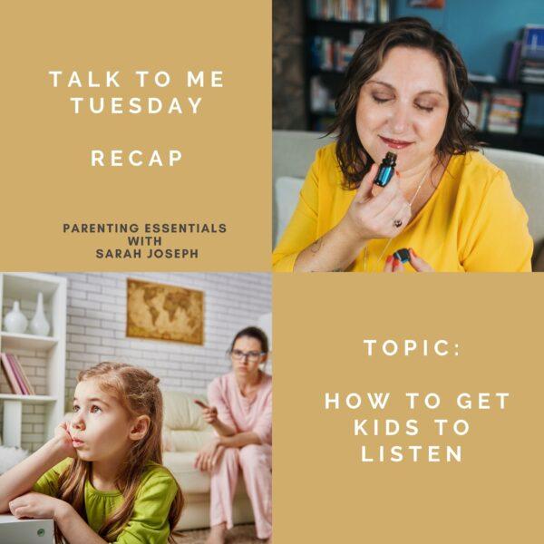 Talk to me Tuesday – July 28, 2020 – Recap!